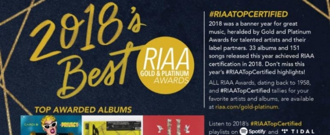 Drake, Cardi B Lead RIAA's 2018 Gold & Platinum List @ Top40